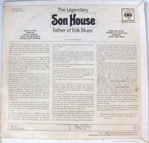 Father of Folk Blues reverse cover Son House