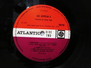 "A ""Plum"" coloured UK Pressing of Led Zep II"