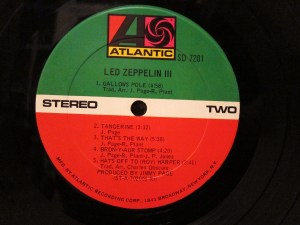The US pressing of Led Zep III