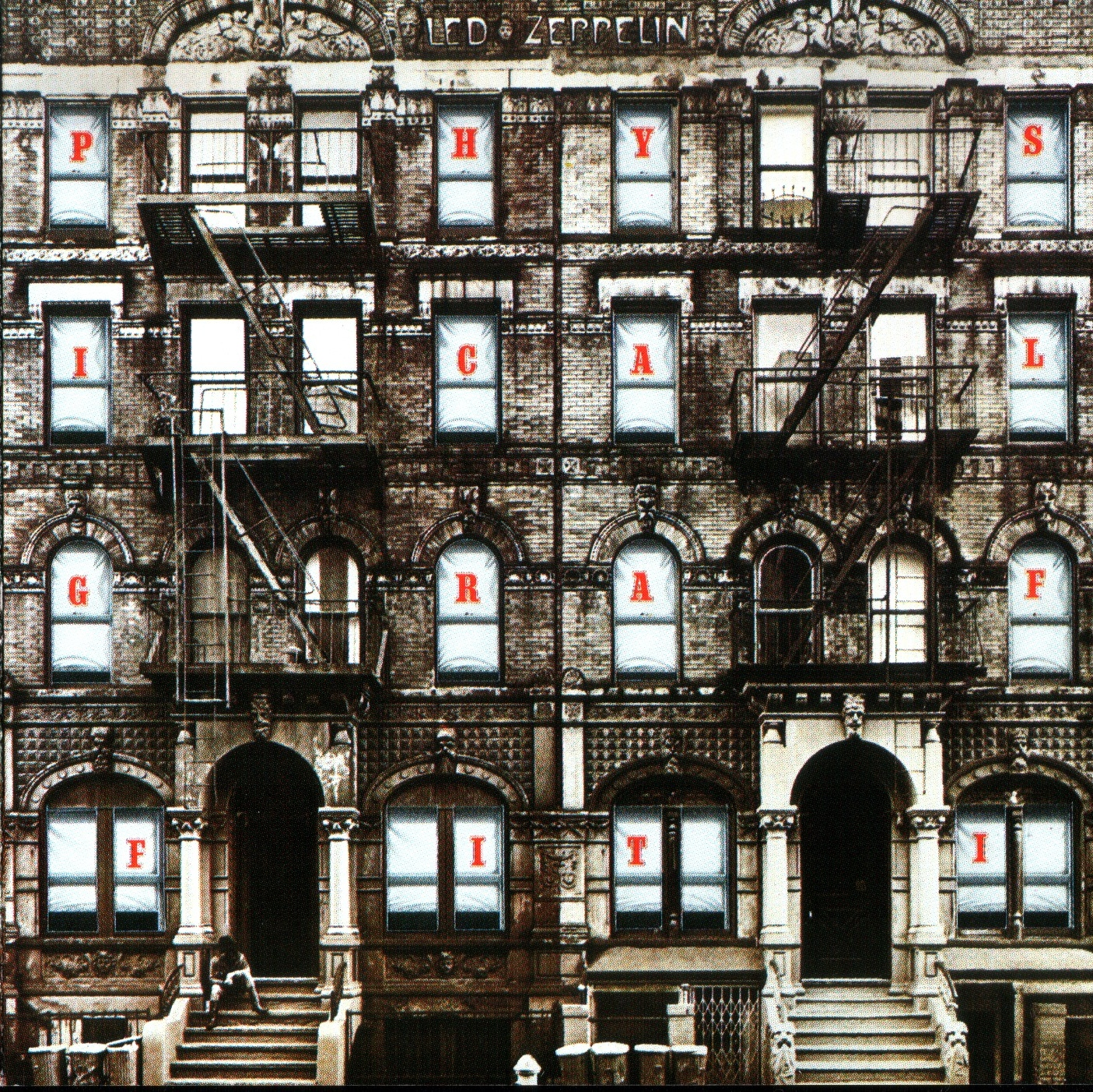 physical graffiti led zeppelin cover every record tells a story. Black Bedroom Furniture Sets. Home Design Ideas