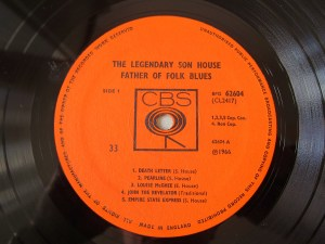 Son House CBS Label Father of Folk Blues
