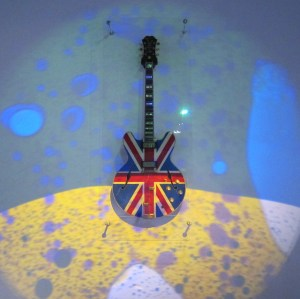 Noel Gallagher Oasis Union Jack guitar