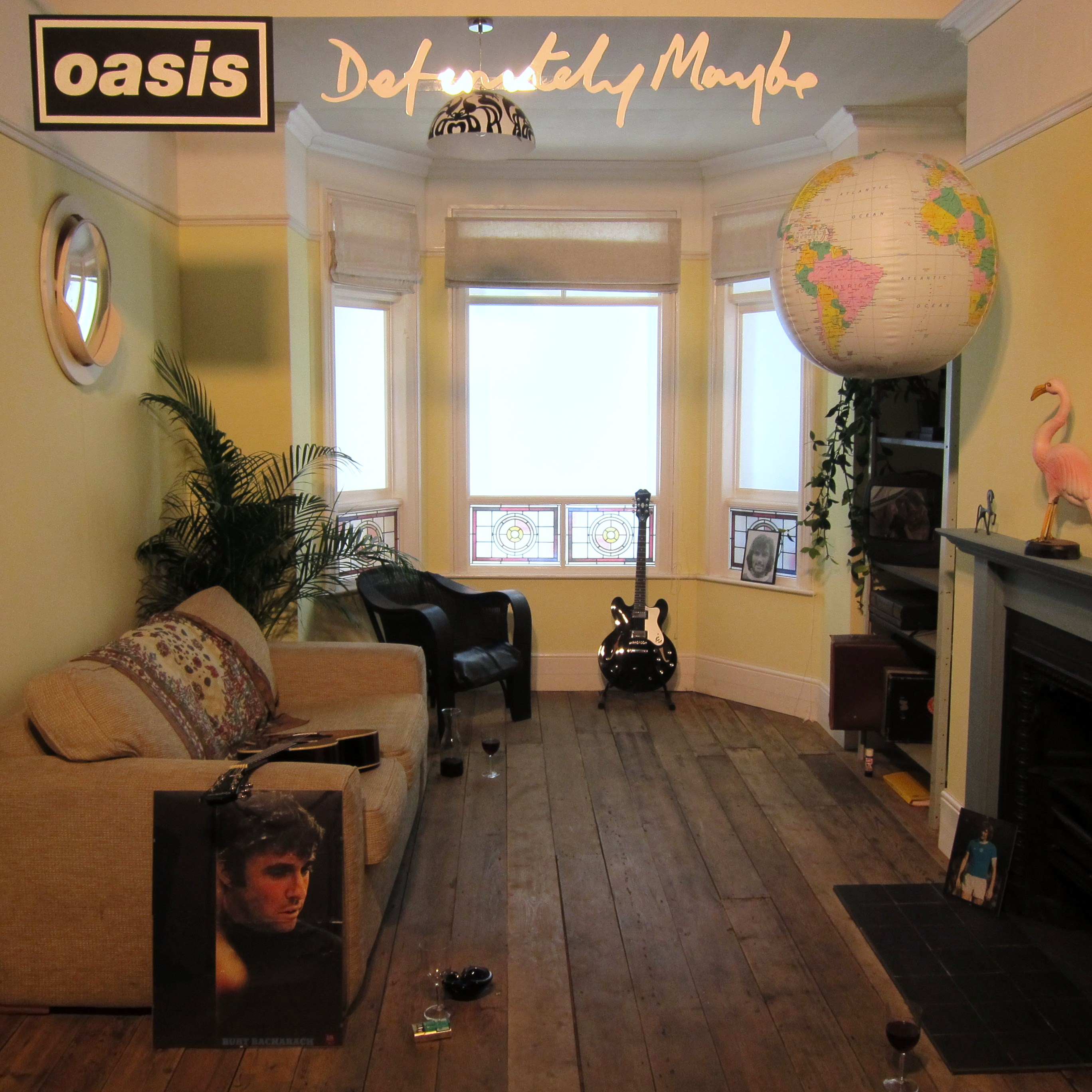 oasis definitely maybe cover front room every record. Black Bedroom Furniture Sets. Home Design Ideas