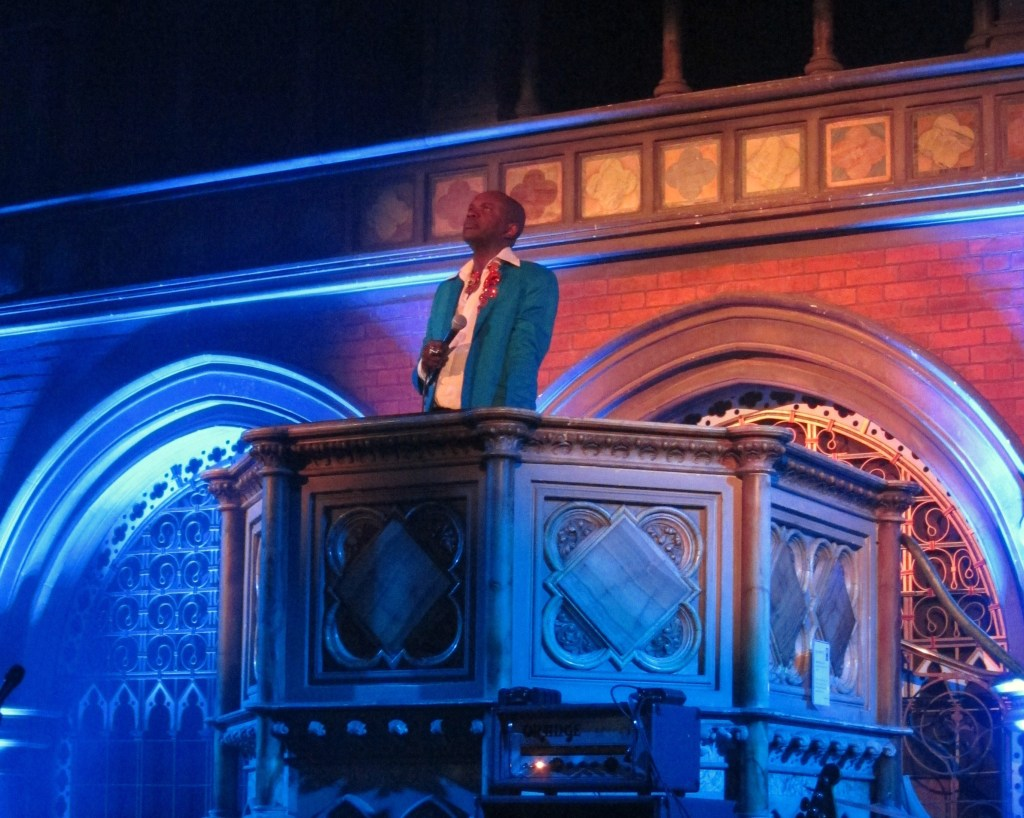 David McAlmont in the pulpit Union Chapel