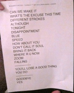 McAlmont and Butler set list