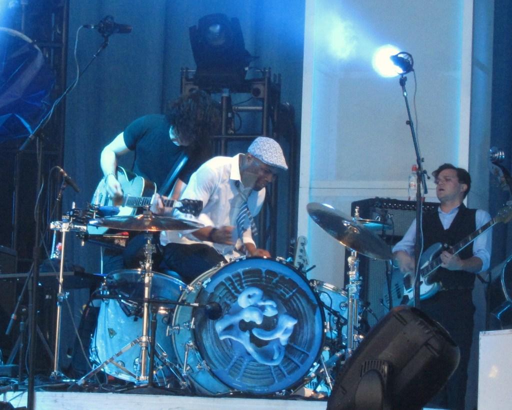 Jack White and Drummer at Glastonbury