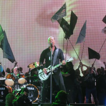 I fought hard for this picture of James and Lars of Metallica - the front few rows were absolutely rammed....