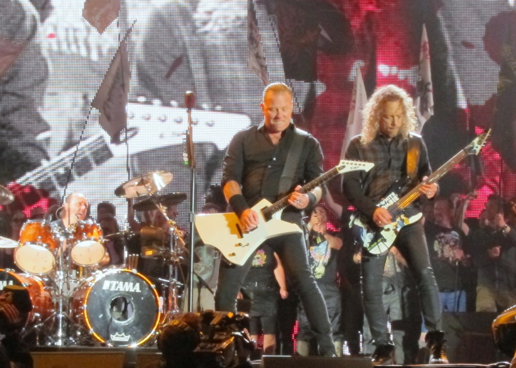 Metallica at Glastonbury Lars James and Kirk IMG_1557