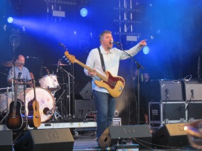 Jimi Goodwin (formerly of Doves) played at Glastonbury just before the heavens opened