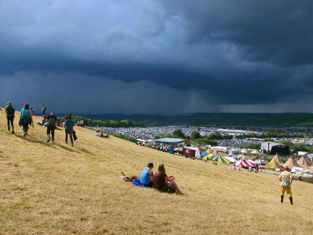 Glastonbury storm clouds