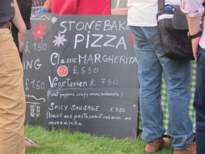 Stonebaked Pizza.... Whatever next? Garlic Bread?