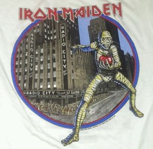 Eddie Iron Maiden t shirt 1985 New York