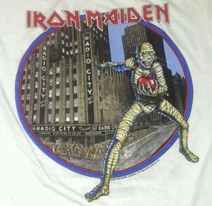 Eddie Iron Maiden t shirt 1985 New York