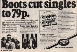 Smash hits boots record advert.png