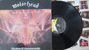 Motorhead No Sleep 'til Hammersmith bronze label