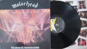 Motorhead No Sleep 'til Hammersmith bronze label