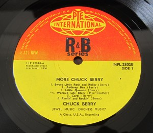 Pye Records label Chuck Berry More Chuck Berry