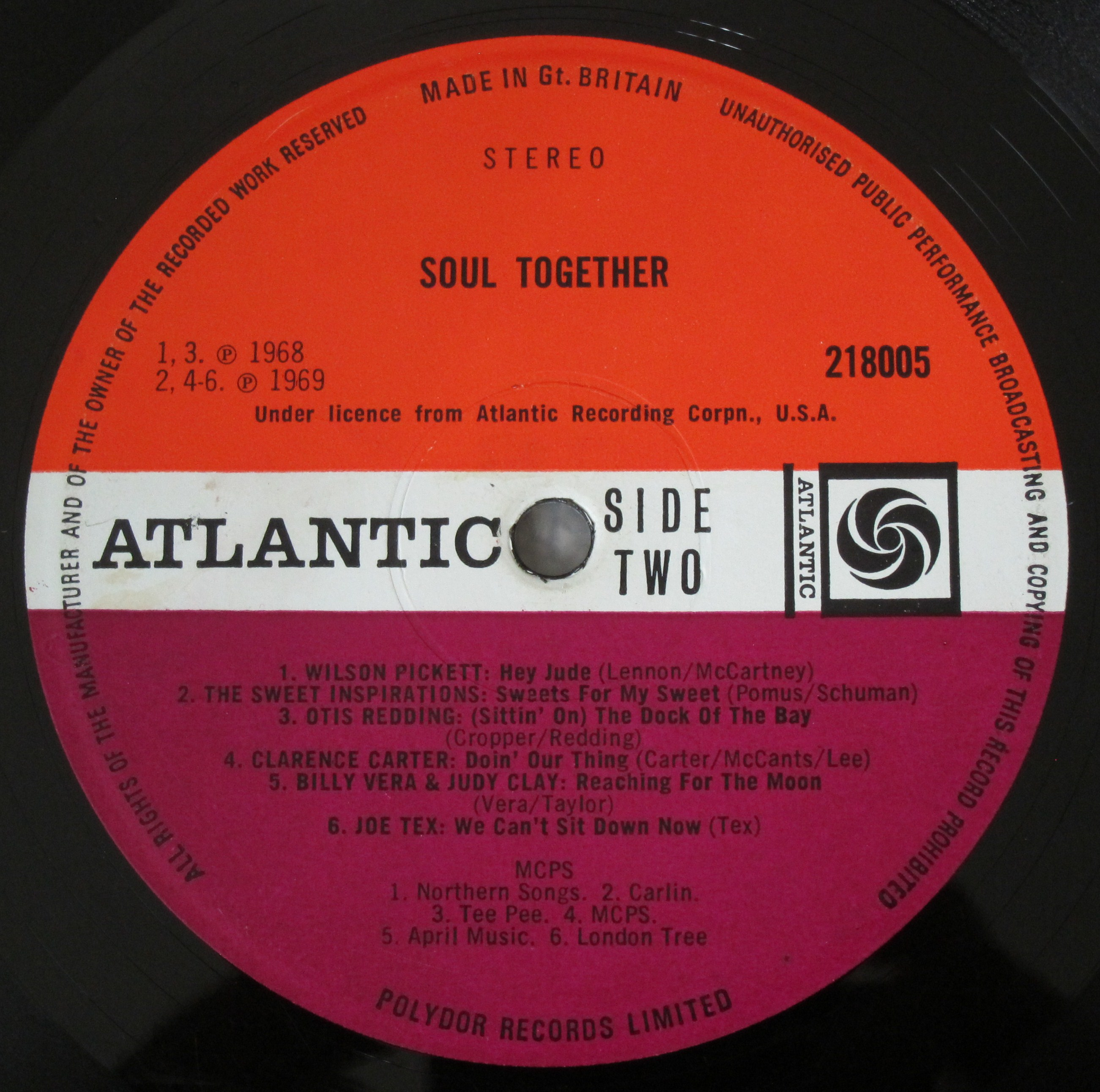 Soul Together Atlantic Plum Label Uk Every Record Tells