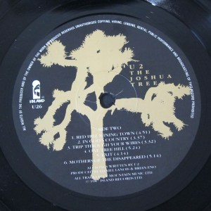 U2 Joshua Tree Island Records label
