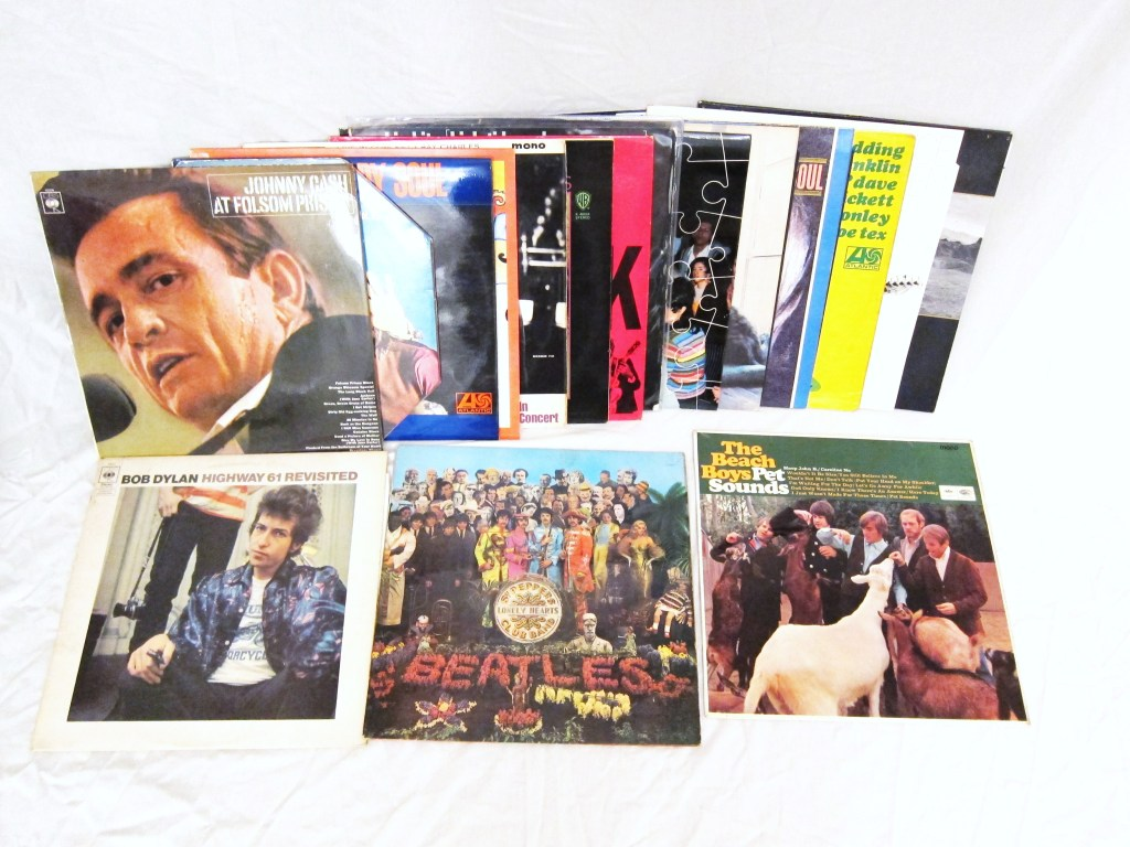 Album Collection with Johnny Cash and The beatles