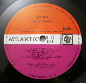 Lady Soul Aretha Franklin Atlantic plum label