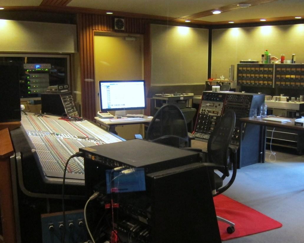 Control room studio 1 hansa tonstudio Berlin
