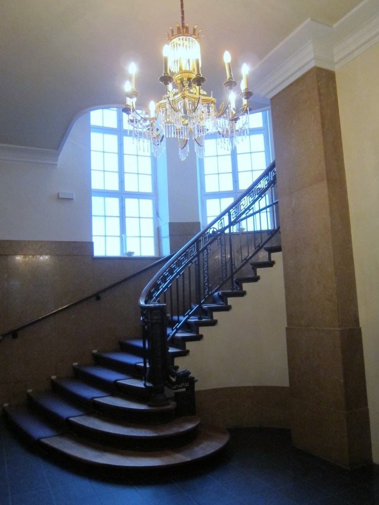 the staircase at hansa studios berlin. Black Bedroom Furniture Sets. Home Design Ideas