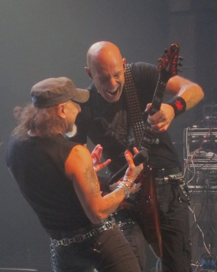 Wolf Hoffman of Accept with Mark Tornillo