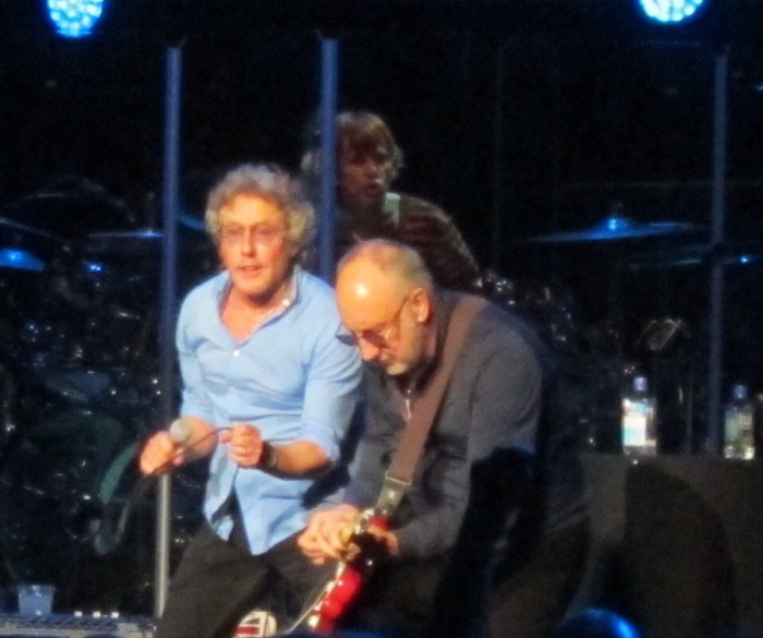 Pete Townsedn and Roger Daltrey of The Who at Royal Albert hall 2015