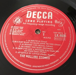 Rolling Stones debut Label decca
