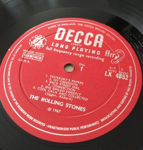 Rolling Stones Between The Buttons Decca Label