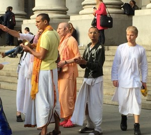 Some Hari Krishna dudes, yesterday