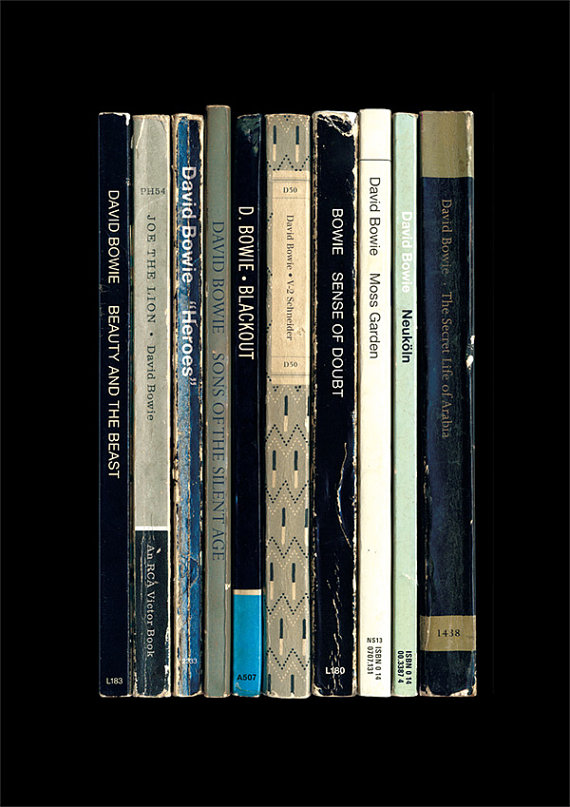 David Bowie Heroes as books standard designs