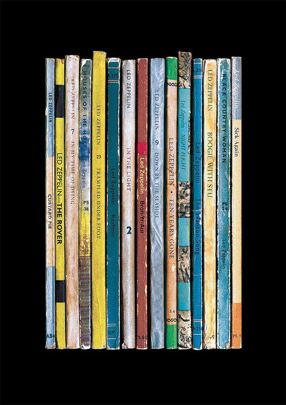 Led Zeppelin Physical graffiti as books standard designs