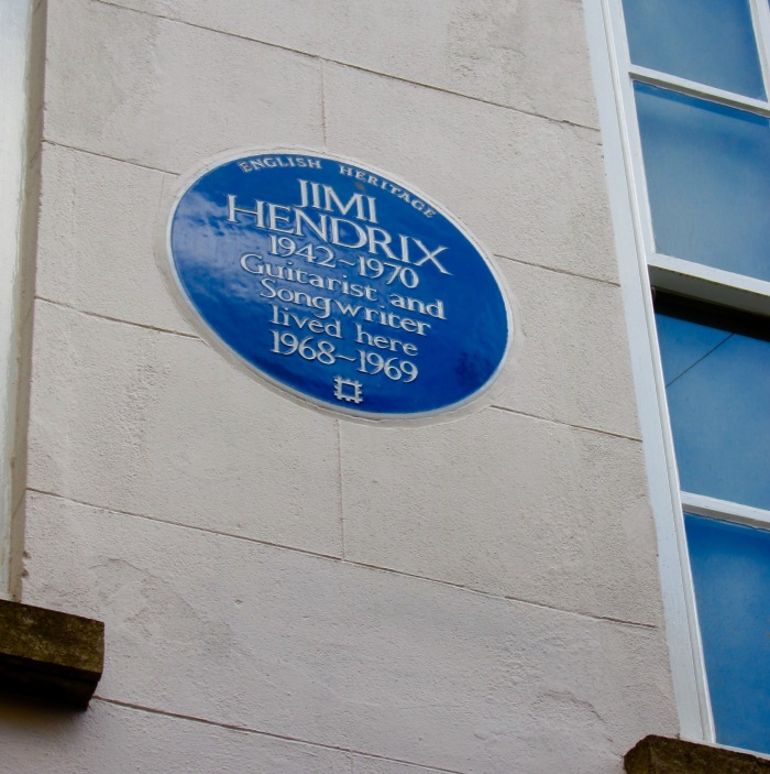Hendrix blue plaque Brook St